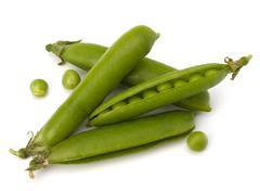 fresh green pea pod - stock photo