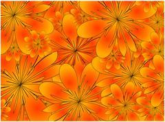 Raster. floral background Stock Illustration