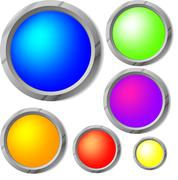 Raster. glossy buttons Stock Illustration