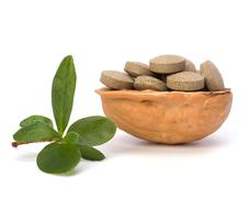 Stock Photo of herbal pills