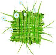 Raster.  summer grass decoration Stock Illustration