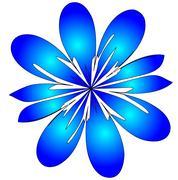 Raster.   stylized flower Stock Illustration