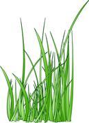 Raster. stylized grass silhouette Stock Illustration