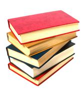 book stack isolated on the white .. - stock photo
