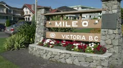 "Mile ""zero"" Trans-Canada Highway marker, start of Stock Footage"