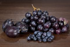 Stock Photo of wine grapes and fruits