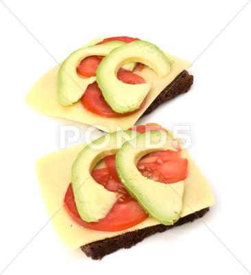 Stock photo of healthy sandwich