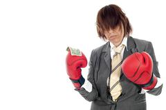 Fighting for the money Stock Photos