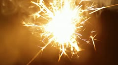 Bengal light burning with bright sparkles - stock footage
