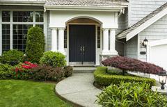 front door to home - stock photo