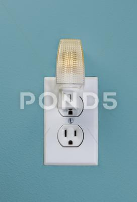 Stock photo of wall outlet light for night time