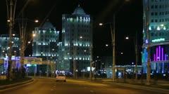 Ashgabat at Night Stock Footage