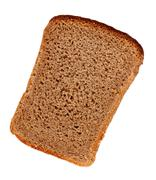 rye bread slice - stock photo