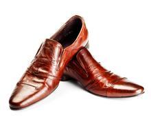 Brown shoes Stock Photos
