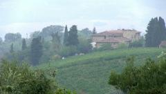 Vineyards in the Tuscany, Italy Stock Footage