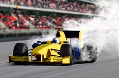 Formula one speed car Stock Photos