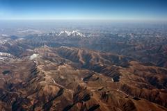 aerial photography, the himalayan hengduan mountains - stock photo