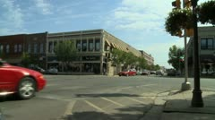 Manhattan Kansas Downtown Pan Right 4 Stock Footage