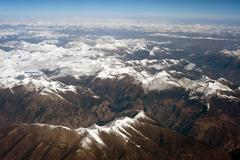 Aerial photography, the himalayan hengduan mountains Stock Photos