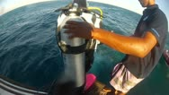 Stock Video Footage of RedSea 05 Jump into sea of boat.
