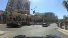 POV drive through Las Vegas V19 - HD Stock Footage