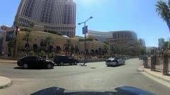 POV drive through Las Vegas V18 - HD Stock Footage