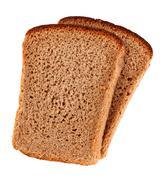 rye bread slices - stock photo