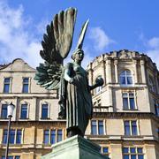 Angel Statue in Parade Gardens in Bath Stock Photos