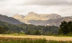 langdale pikes in lake district - stock photo