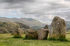 castlerigg stone circle near keswick - stock photo