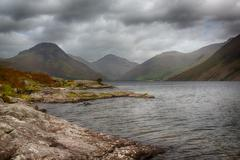 wast water in english lake district - stock photo