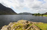 Stock Photo of view over crummock water in lake district