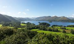 Stock Photo of derwent water from castlehead viewpoint