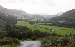 View toward eskdale from hardknott pass Stock Photos
