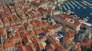 Stock Video Footage of Dubrovnik aerial