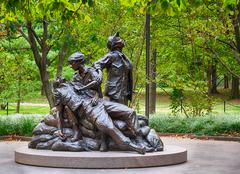 Women's vietnam memorial in washington Stock Photos