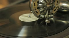 Old gramophone Stock Footage