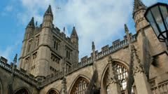 Bath Abbey Timelapse Stock Footage