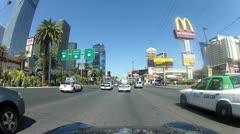 POV drive through Las Vegas V11 - HD Stock Footage