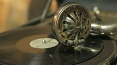 old gramophone - stock footage