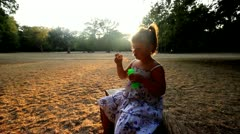 Summer afternoon in the park Stock Footage