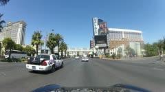 POV drive through Las Vegas V7 - HD Stock Footage