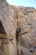 falling climber - stock photo