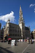 Brussels Town Hall on Grand Place - stock photo