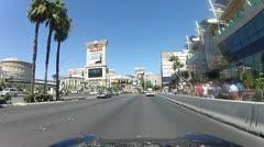 POV drive through Las Vegas V6 - HD Stock Footage