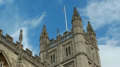 Bath Abbey Timelapse, Zoom Out Stock Footage