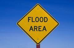 Flood area sign Stock Photos