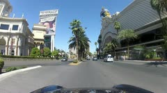 POV drive through Las Vegas V5 - HD Stock Footage
