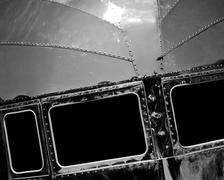 Chrome and Rivets - stock photo