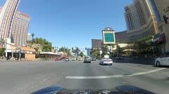 POV drive through Las Vegas V3 - HD Stock Footage